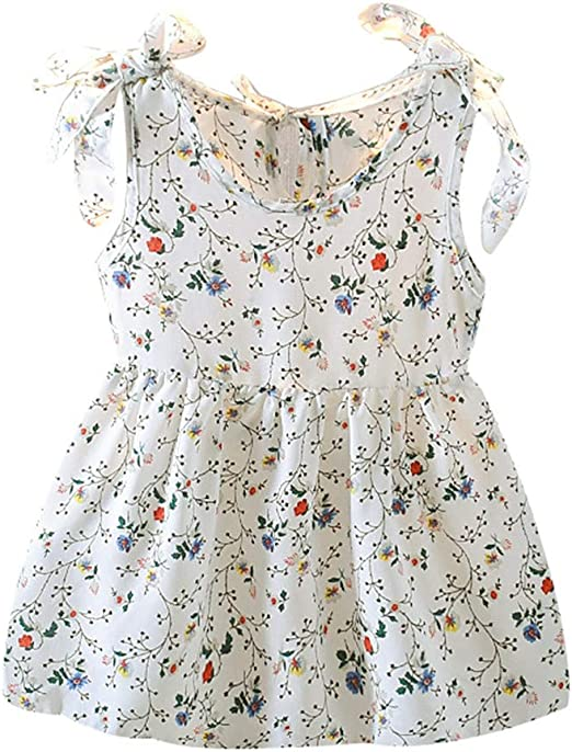 Baby Girl Kids Dress Casual Party Infant Outfit Sleeveless Princess Gallus Dress