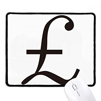 Diythinker Currency Symbol Pound Non Slip Mousepad Game Office Black