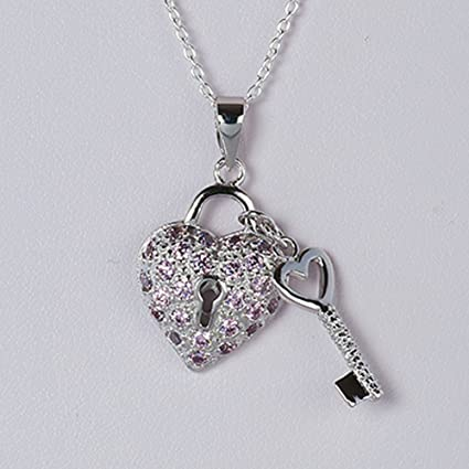 Sterling Silver Pink CZ Heart Pendant Pendants /& Charms Jewelry