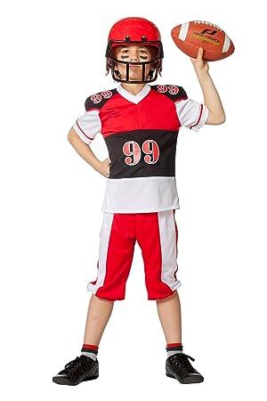 The Fantasy Tailors Disfraz de Jugador de fútbol Americano, niños ...