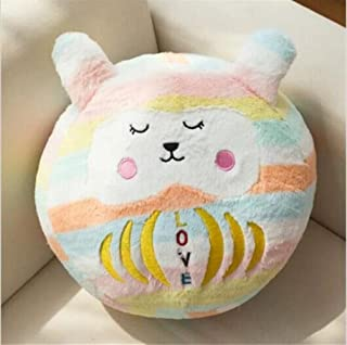 Safe and Environmental Friendly Large Size Pear Wavy Stripes Cartoon Doll Tumbler Ball Pillow(Dreamy Multicolored) Yingealy