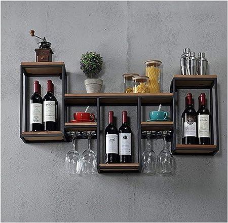 Large Wine Rack Metal Bottle Holder Tall Storage Stand Industrial Vintage Unit