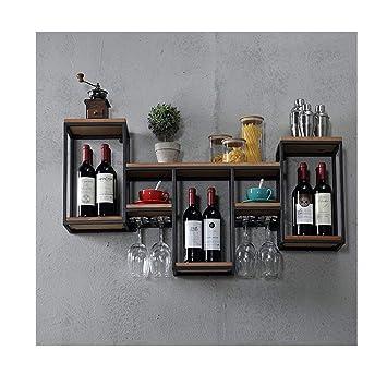 Casier à Vin étagère De Support De Vin En Métal Rétro Mural Loft