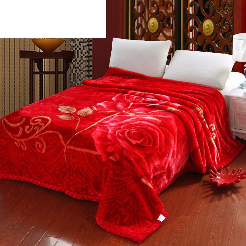ダブル 厚い 毛布, 元に戻せる状態 Hypoallergenicraschel 毛布をベッド, 耐フェード 縮小されません, 柔らかい 滑らかです 通気性-U 200*230cm B07HGWRNBX U 200*230cm