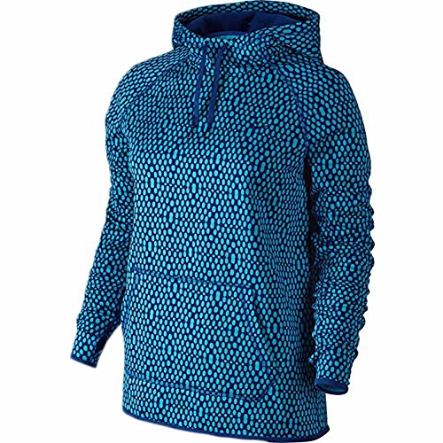 New Nike Women's Therma All Time Mirror Mesh Pullover Hoo...