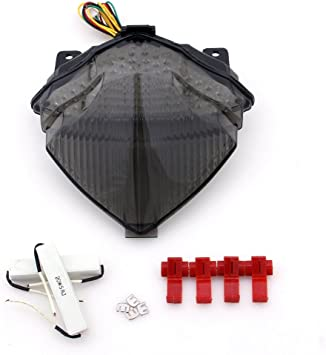 Areyourshop Integrated LED TailLight Turn Signals For Yamaha YZF R1 2004-2006 Smoke