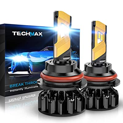TECHMAX 9007 LED Headlight Bulb,HB5 12000Lm 6500K Xenon White Conversion Kit of 2: Automotive