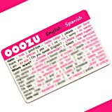 OOOZU Spanish Language Card | Convenient Spanish Phrasebook Alternative | Essential Spanish For Travel To Spain/Madrid/Barcelona