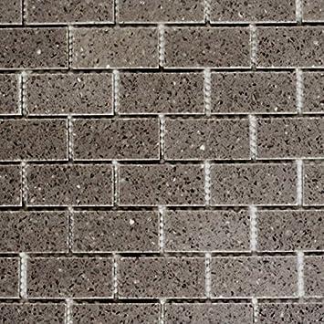 Mosaik Fliese Quarz Komposit Kunststein Brick Artifical grau für ...