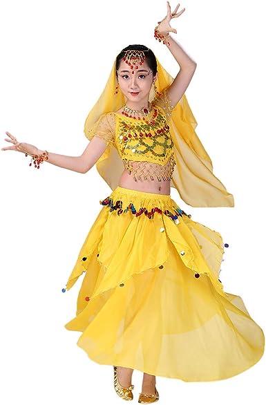 YWLINK Falda De Baile,NiñOs India Danza del Vientre Danza Egipcia ...