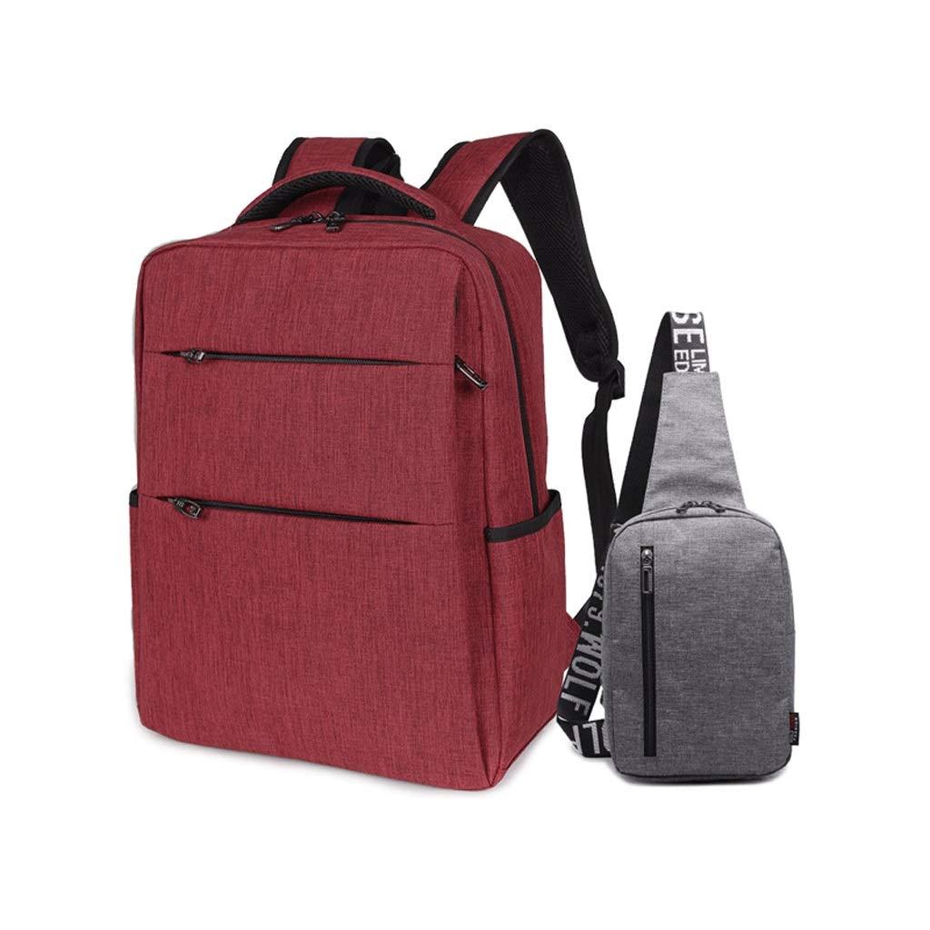 51ee8c033d Zaino LCSHAN Unisex Scuola Media Studenti Oxford Oxford Oxford Panno Moda  Semplice Borsa da Viaggio (colore Red) c0bee9