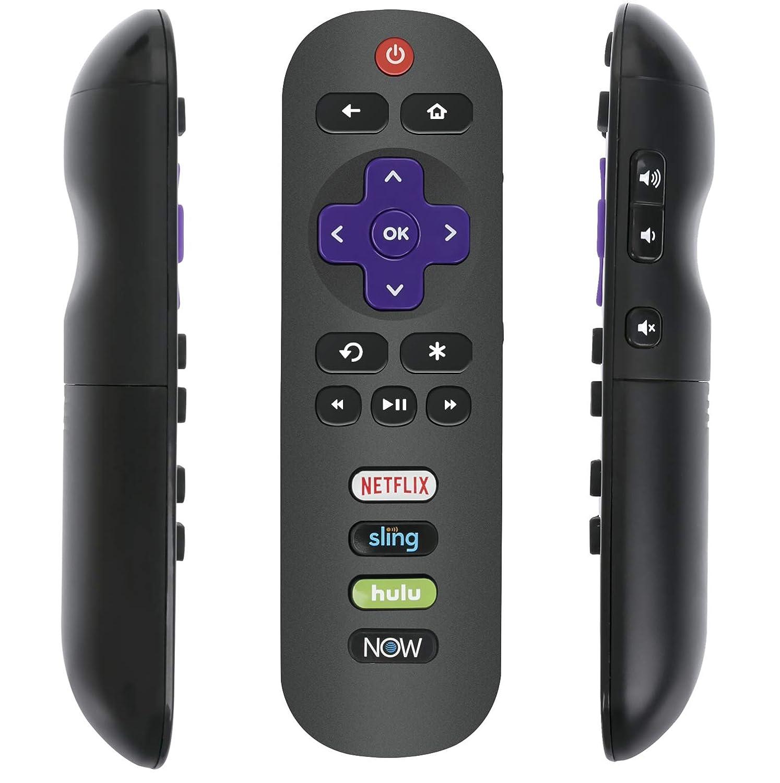リモコン TCL Roku TV 43S425 49S425 50S425 55S425 65S425 75S425 32S321 32S301 32S327 65S421 55S421 50S421 43S423 50S423 55S423 65S423 43S403 32S325 RC280 RC282 w Netflix Now Keys用   B07NVQ3XGT