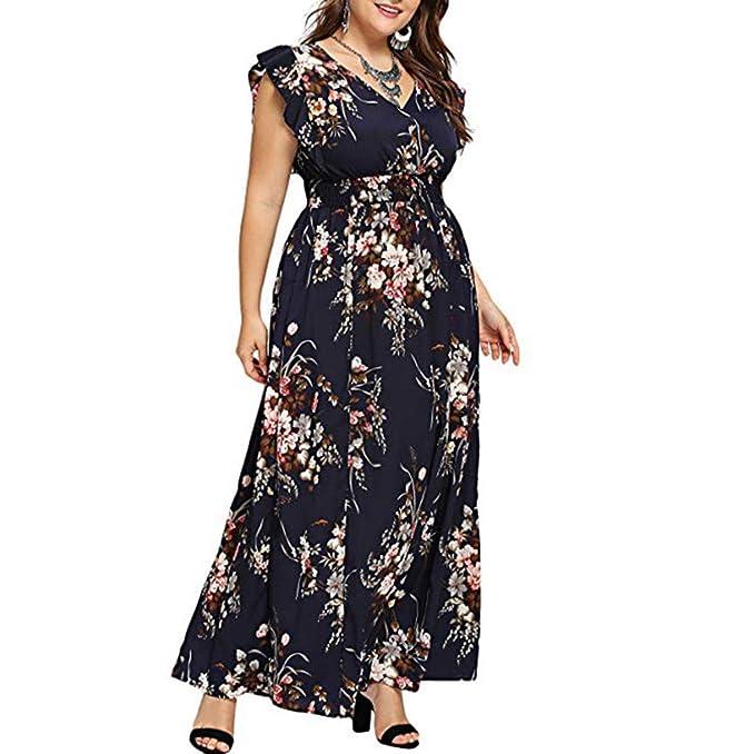 Amazon.com: Women\'s Maxi Dresses,Plus Size Sun Dress Empire ...