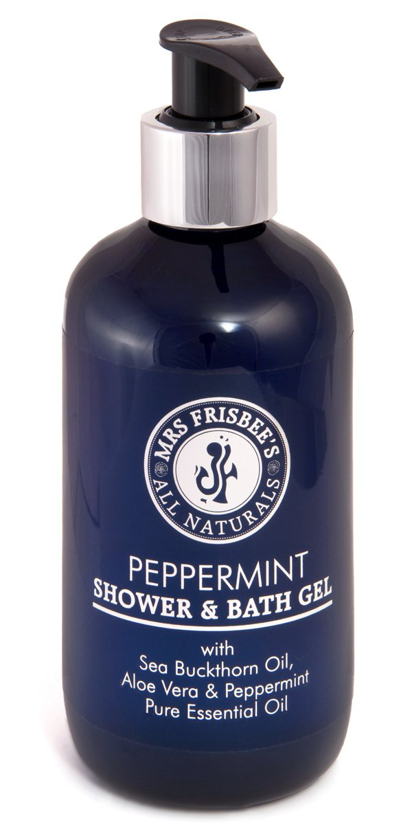 Mrs Frisbee's All Naturals Peppermint Shower and Bath Gel With Sea Buckthorn Oil and Aloe Vera 0700621914457