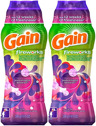 Gain Fireworks Laundry Scent Booster Beads, Moonlight Breeze, 19.5 oz (2) ()
