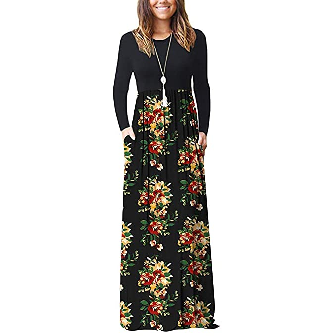 Women\'s Dress Summer Boho Maxi Dress Casual Sleeveless Plus Size Floral  Print Maxi Tank Long Dress