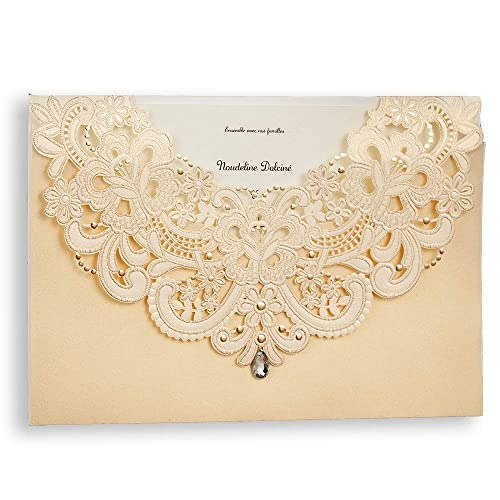 wedding invitations with rsvp cards amazon com