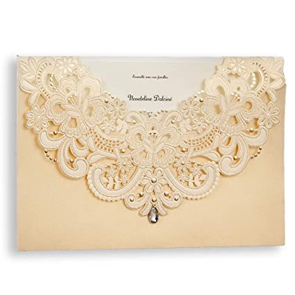 amazon com the dear one wishmade 5 x7 champagne gold laser cut