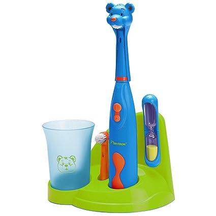 Bestron DSA3500B Niño Cepillo dental giratorio Azul, Verde, Naranja cepillo eléctrico para dientes -