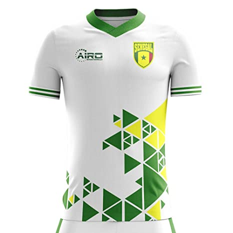 c8688a877 Image Unavailable. Image not available for. Color  Airo Sportswear 2018-2019  Senegal Home Concept Football Soccer T-Shirt Jersey (Kids