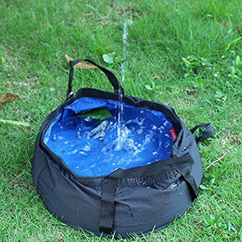 TATEELY 8.5L Outdoor Travel Folding Camping Washbasin Ultra-light Portable Basin Bucket Bowl Sink Washing Bag Hiking Water Bucket (blue) by TATEELY (Image #6)