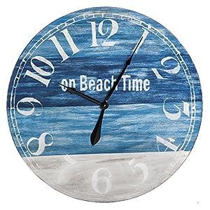 61rTnLfxa-L._SS300_ Coastal Wall Clocks & Beach Wall Clocks