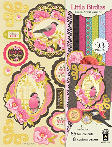 Artful Card Kits by Hot Off The Press | Coordinated Collections for Scrapbooking, Card Making and Gifts - Inspiration at Your Finger Tips (Little Birdies Artful Card Kit) ()