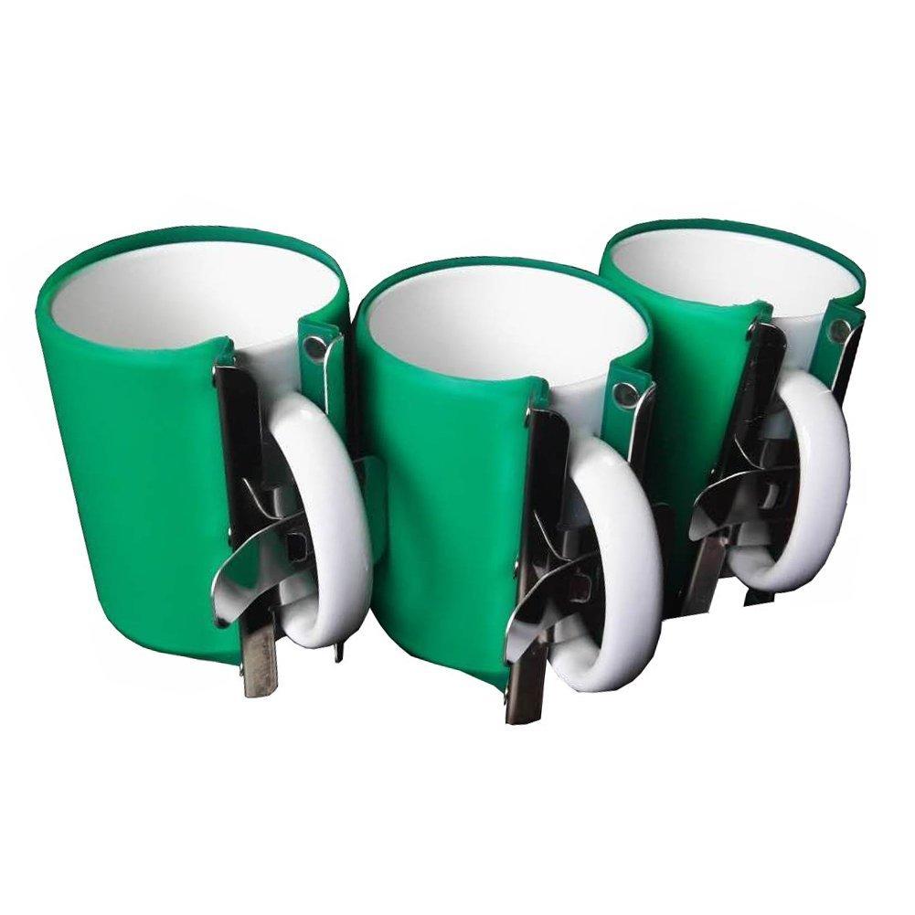 Heat Press Silicone Mug Clamp - EDIY 2018 Best Heat Press 11oz Cup Clamp Fixture for Printing Mug, 3D Vacuum Heat Press Machine, Sublimation Machine, including 3pcs Molds, Heavy Duty 100% Waterproof Dream creating Co.ltd 3D CLAMP-11OZ-3PCS