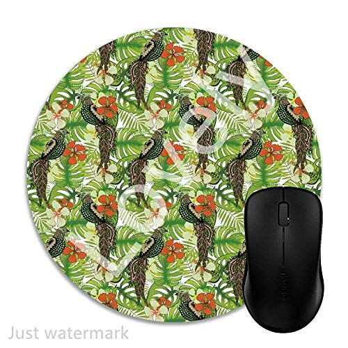 Mouse Pad Gaming Palm Leaves Stylized Birds, Premium-Textured Surface, Non-Slip Rubber Base, Laser & Optical Mouse Compatible, Mouse mat 1J1548 -