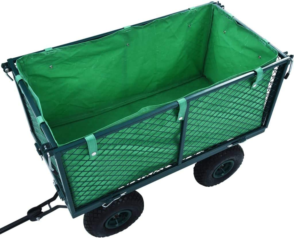 vidaXL Innenplane f/ür Gartenwagen Bollerwagen Handwagen Transportkarre Transportwagen Ger/ätewagen Innenverkleidung Plane Gr/ün Stoff