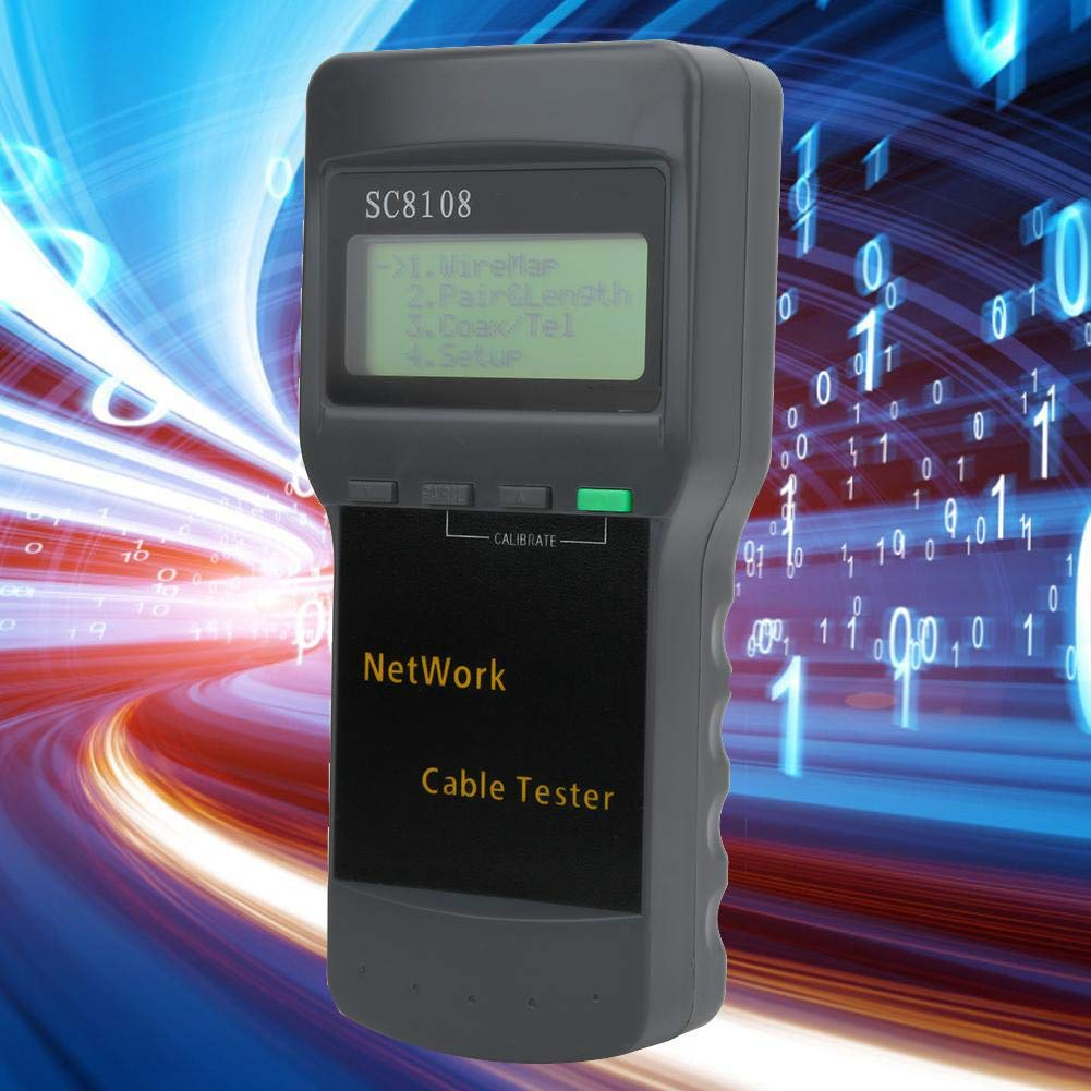 Portable RJ45 Network Cable Tester Meter Digital Network LAN Phone Cable Tester with LCD Display