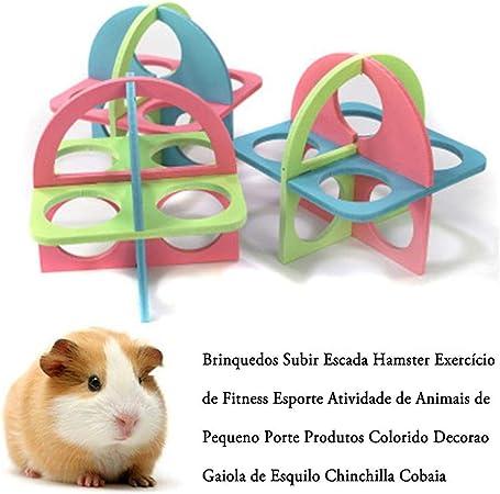 myonly Escalera de hámster para Ejercicio, Juguete para Escalada, Colorido, decoración para Ardillas, Chinchillas, cobayas, pequeñas Mascotas: Amazon.es: Hogar