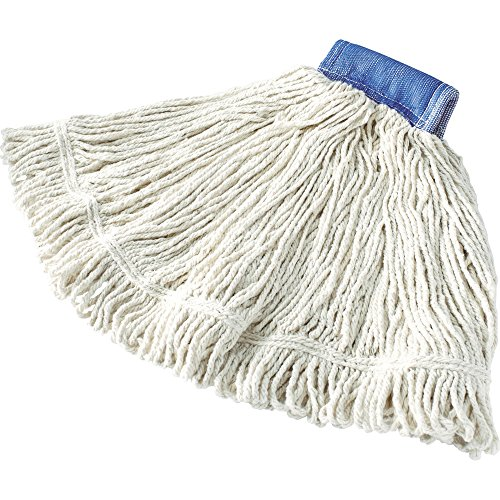 Rubbermaid Commercial FGD25406WH00 Super Stitch Mop Head, 5-inch Headband, Extra-Large, White