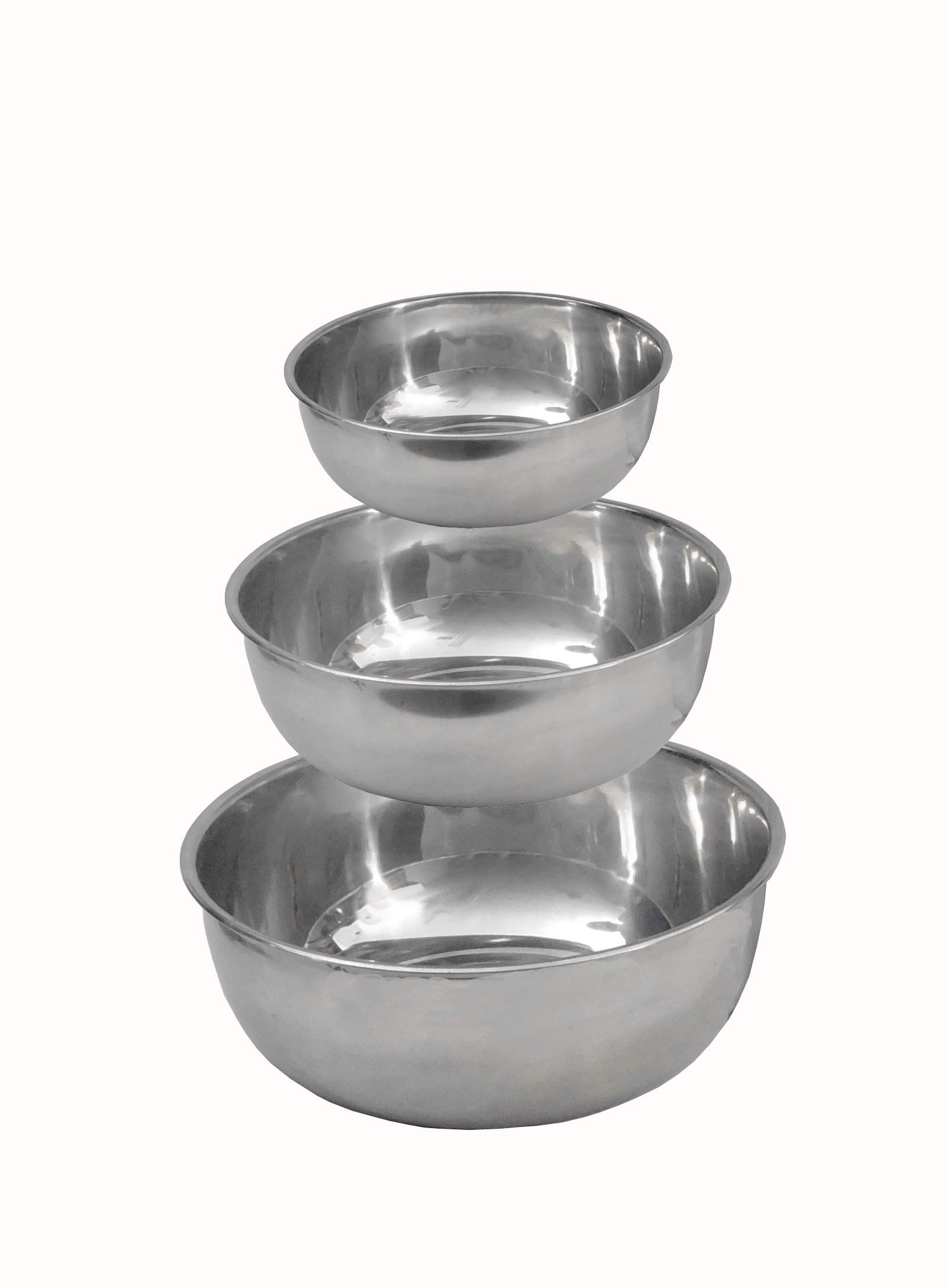 Stainless Steel Facial Machine Utility Bowls for Spa use- Set of 3 Small Medium Large