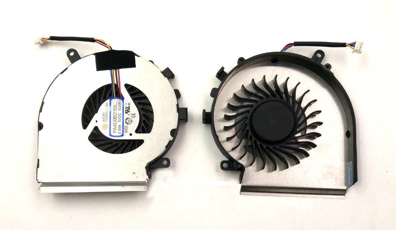 Ventilador de CPU para Ordenador port/átil MSI GE62 GE72 PE60 PE70 GL62 GL72 BAY Direct PAAD06015SL Compatible con el n/úmero de Pieza: PAAD06015SL