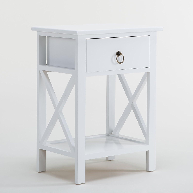Amazon US Stock Kissemoj Wood Bedroom White Sofa End Side