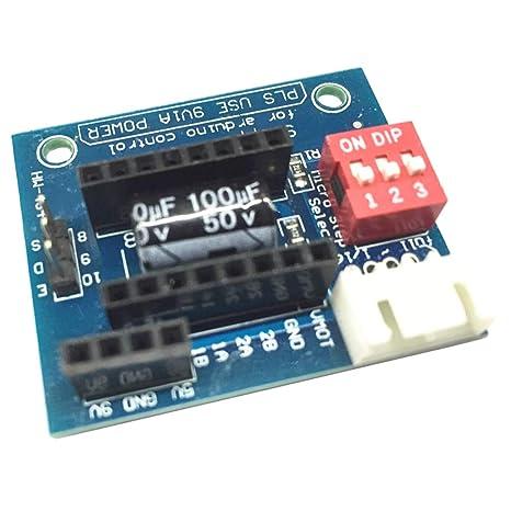 Sharplace A4988 Drv8825 Tarjeta de Expansión Impresora 3D Accesorio Ordenador Portátil Cámara Fotografía