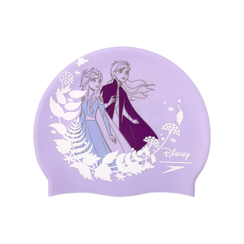 Speedo Cuffia Disney con Stampa Frozen 2 Junior Nuoto Unisex-Youth One Size Lilla//Bianco