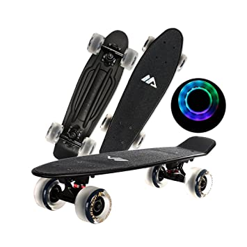 Brilliant firm Patinetes para niños Patineta Negra de Cuatro Ruedas Scooter Negro Tablero Adulto Tablero de Baile Ruedas Negras (Color : Black): Amazon.es: ...