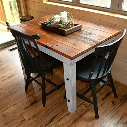 Reclaimed Wood Farmhouse Table - Sugar Mountain Woodworks - Handmade Rustic Wooden Work Table, Computer Desk, Dining (Reclaimed Wood Table)