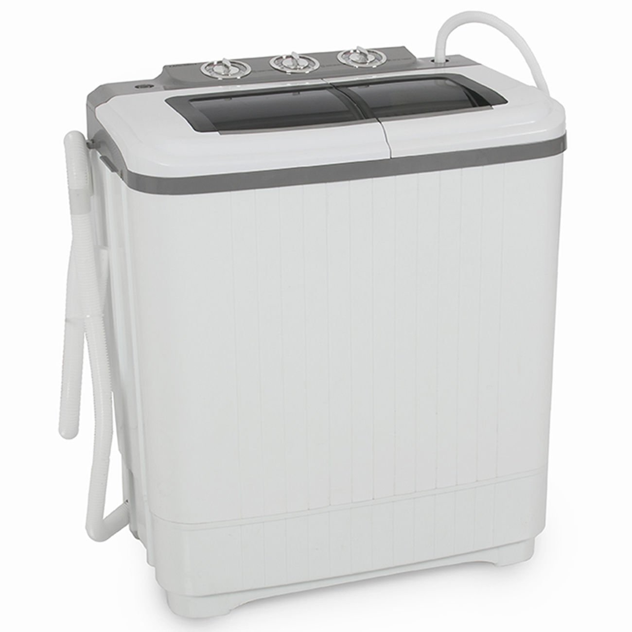 GHP Home Improvement Portable Compact 14.5''Lx24''Wx28-14/4''H Washing Machine by Globe House Products