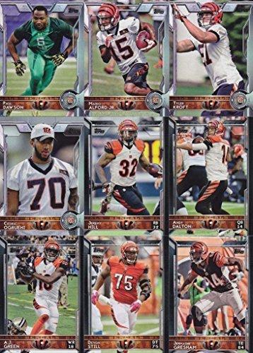 Bengals Cincinnati Card - Cincinnati Bengals 2015 Topps NFL Football Complete Regular Issue 18 Card Team Set Including AJ Green, Andy Dalton, Giovani Plus
