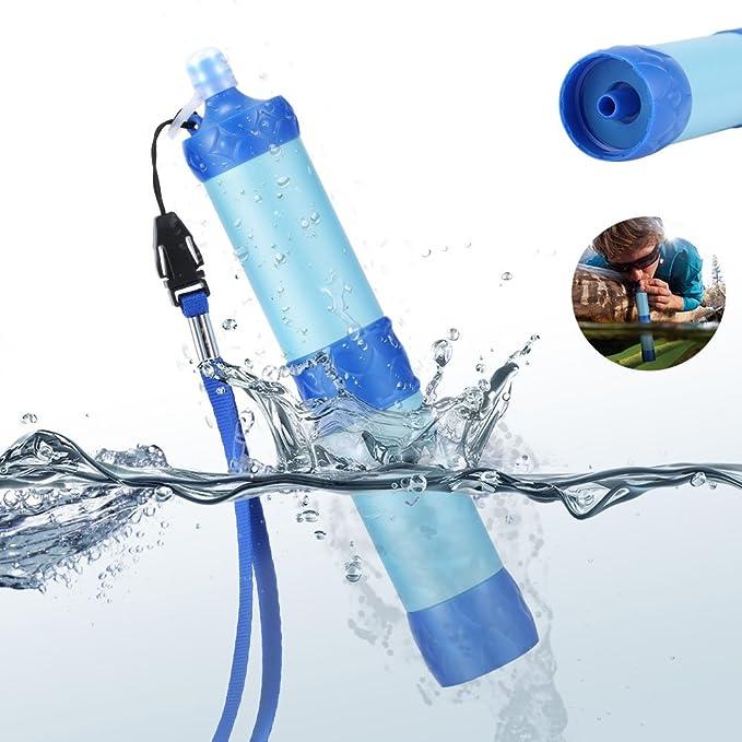 ieenay - Purificador de agua a presión portátil para acampada ...