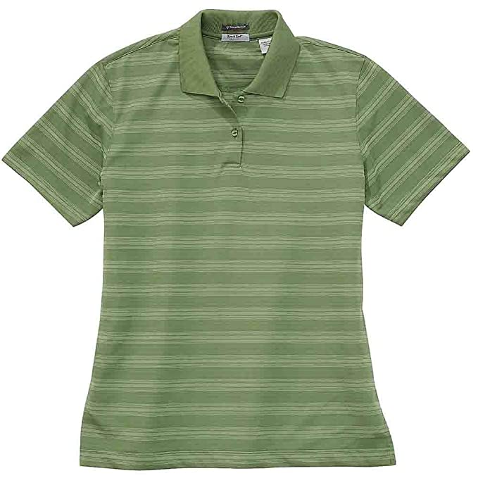 Rivers  End Womens UPF 30+ Striped Polo Casual Tops Green at Amazon Women s  Clothing store  018c62b759