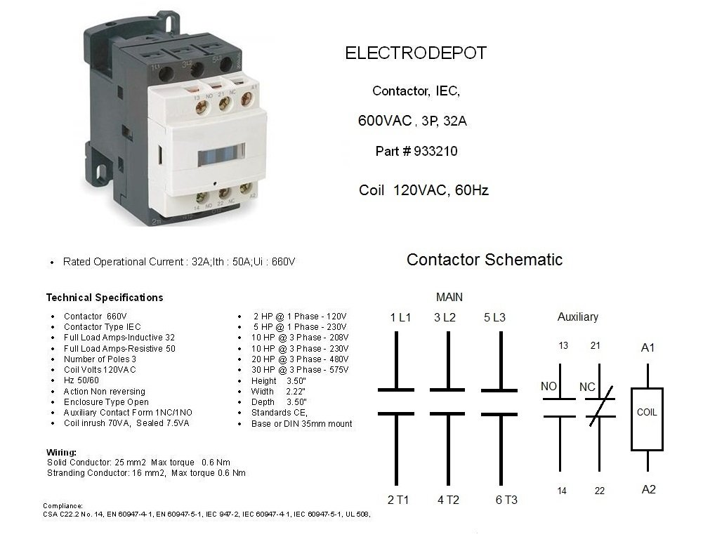 208v Contactor Wiring Diagram Will Be A Thing 208 Vac Single Phase Telemecanique Magnetic Starter Schneider 240 Coil