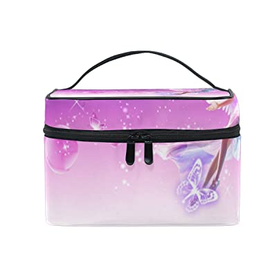 OREZI Large Multifuncation Cosmetic Bag Makeup Travel Toiletry Travel Kit Organizer Case with Quality Zipper Portable Fairy In Sky Makeup Bag for Women