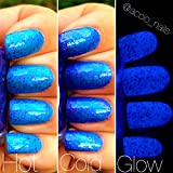 Fairy Dust Blue to Purple Color Changing AND Glow in the Dark Nail Polish - Glows Blue - Mood Nail Polish - FREE SHIPPING