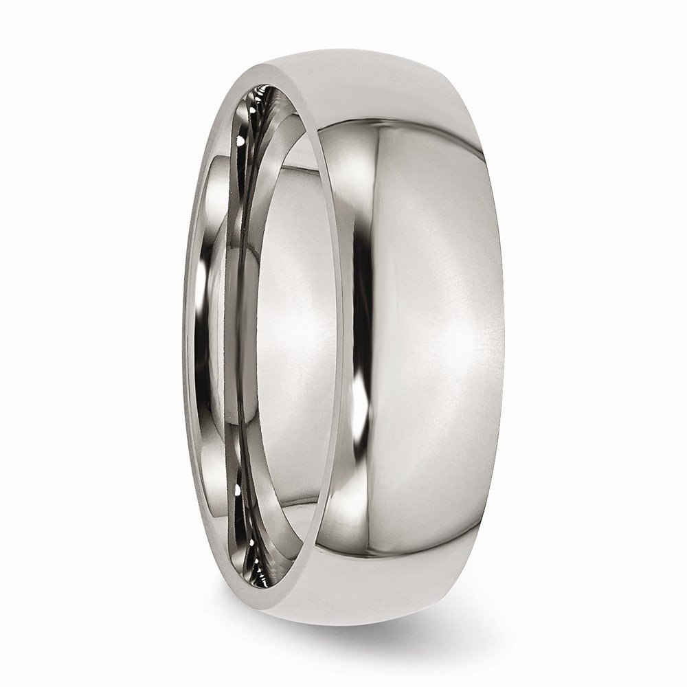 Wedding Bands Classic Bands Domed Bands Titanium 7mm Polished Band Size 13.5