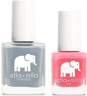 product image for ella+mila Nail Polish, mommy&me set - Grey Skies + Ella's Pick
