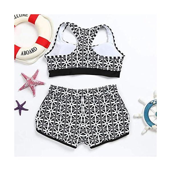 Costume Donna Due Pezzi - Bikini - Top - Shorts - Mare - da Bagno - Sport - Sportivo - Coordinato - Ragazza - Righe… 4 spesavip